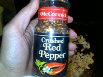 Crushed peppers