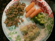 Ground turkey and vegetables