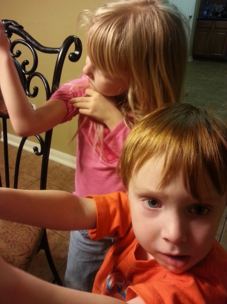 Kids check for muscle growth after eating spinach