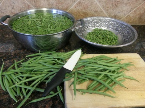 21 cups of green beans