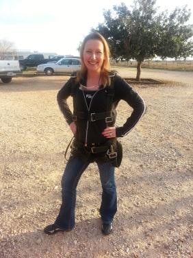 Lisa in harness