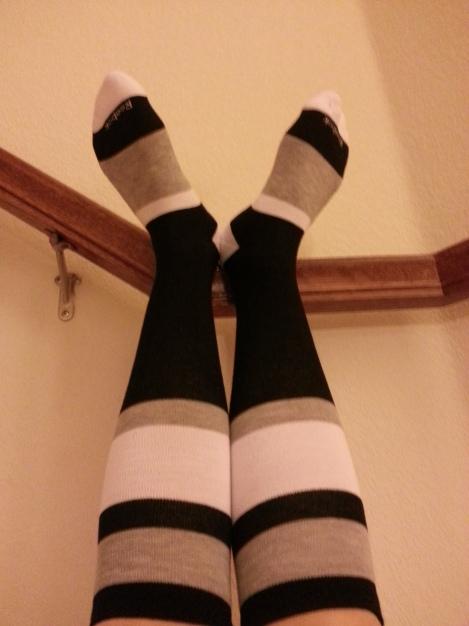 Rockin' the knee socks