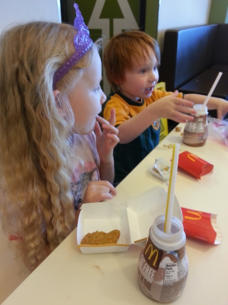 Rylee & Henry at McDonald's