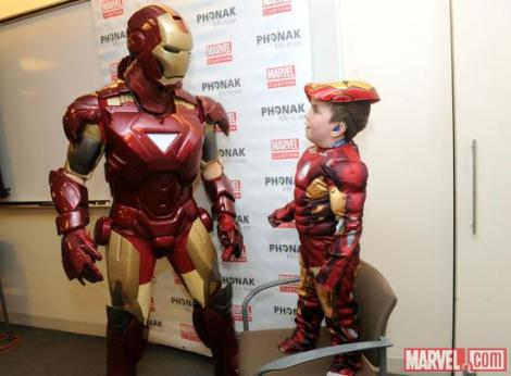 Iron Man with 5 year old Anthony Smith