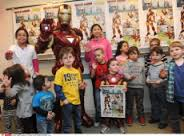 Iron Man with Anthony at Center for Hearing and Communication