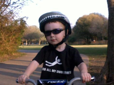 Little Henry - badass on a bike