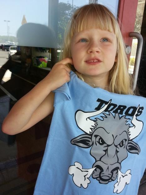 Rylee's first race T-shirt