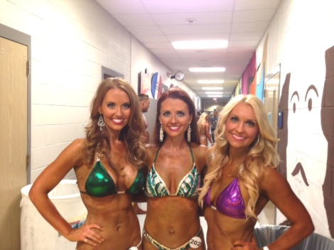 Amberly, Staci and Adrienne backstage