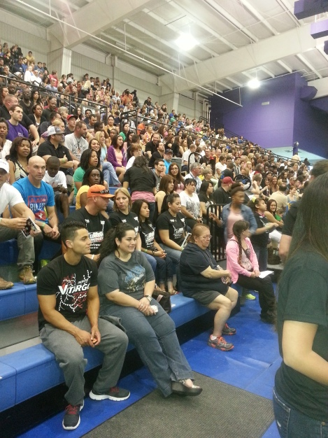 Audience at pre-judging for 2013 Texas Shredder