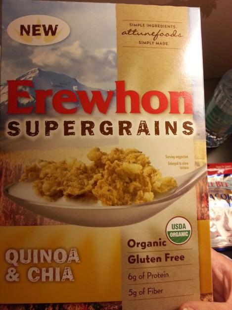 Erewhon quinoa and chia cereal