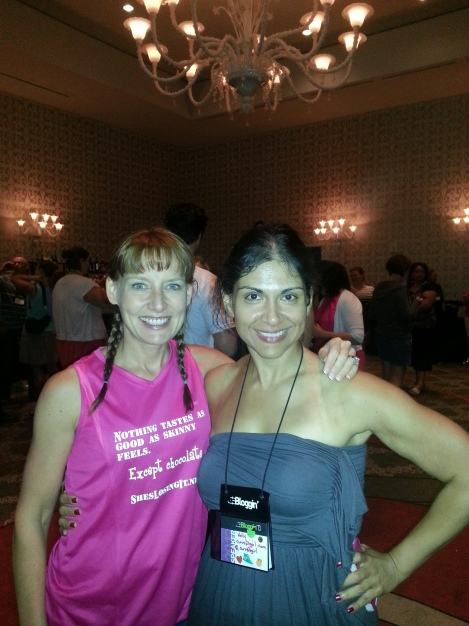 Lisa and Kelly at FitBloggin'13