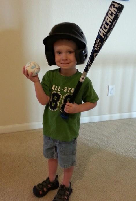 Little Henry's 1st Day of Baseball