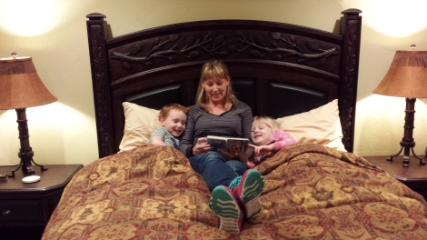 Reading the kids a bedtime story