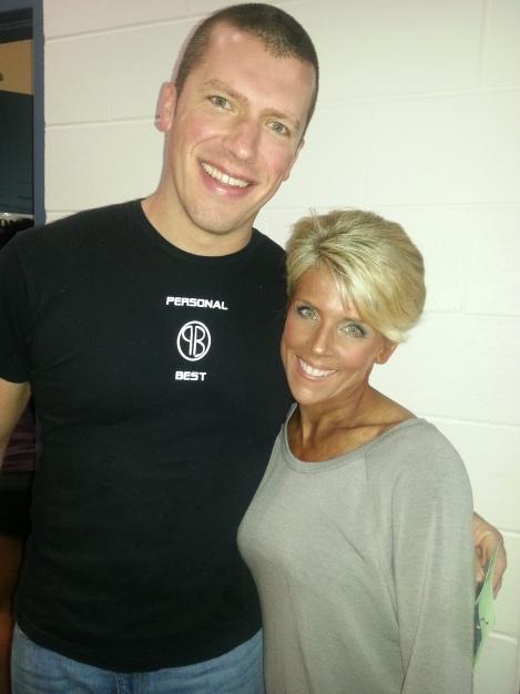 Kelli Brown with trainer Jeff Erickson