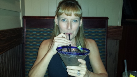 Lisa with margarita