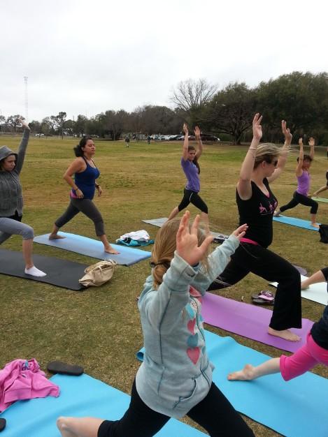 Yoga Class Stretch