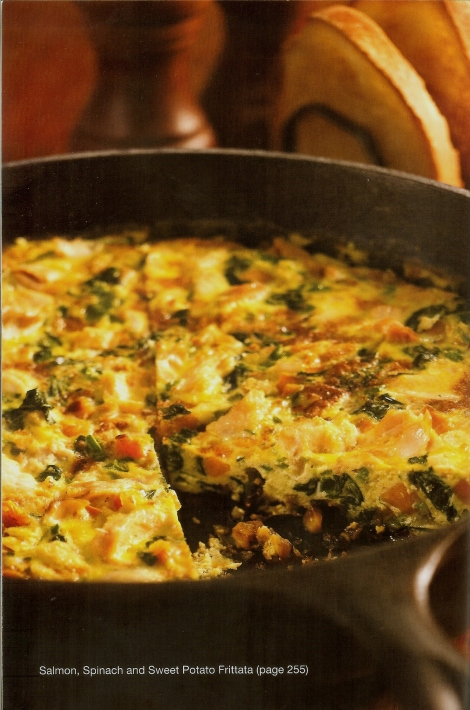 Salmon, Spinach and Sweet Potato Frittata