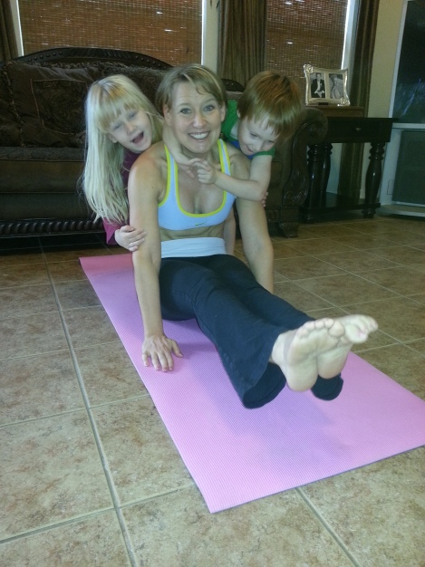 Straddle hold with kids