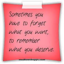 Want vs. Deserve