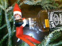 Elf busted!  Keeping it real