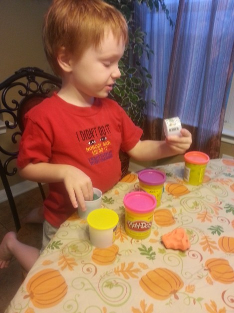 Play Doh helps to develop fine motor skills